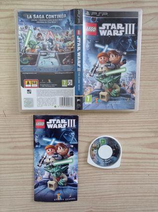 Juego Sony PSP LEGO Star Wars III - The Clone Wars