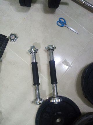 barras profesionales de mancuernas de 28 mm