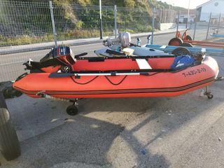 embarcación neumática 360, motor force 15 hp