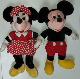 lote muñeco peluche minnie mouse mickey