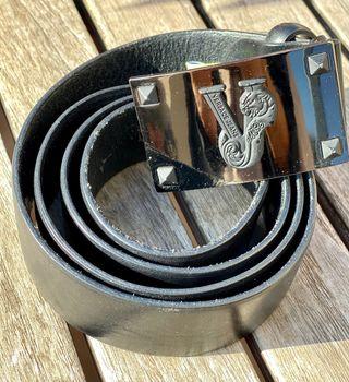 Cinturón piel hombre Versace Jeans. Original