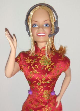 Geri Halliwell muñeca Barbie Spice Girls.