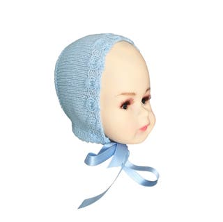 Capota de punto azul bebé 0-3 meses
