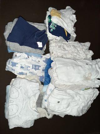 Lote ropa de bebe niño de 0 a 6 meses