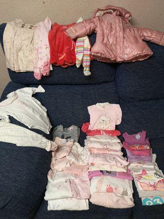 Lote ropa bebe niña de 0 a 6 meses