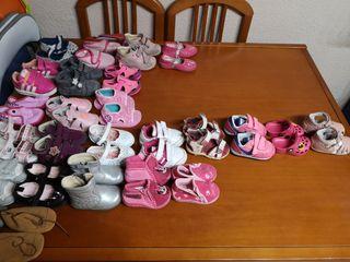 Lote zapatos de niña tallas 17 a 22