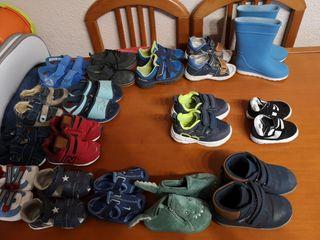 Lote zapatos niño tallas 17 a 22