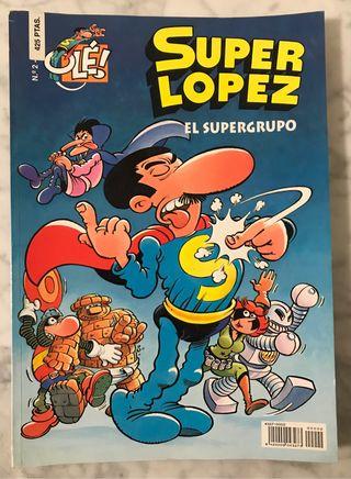 Cómic SUPERLÓPEZ nº 2 El Supergrupo