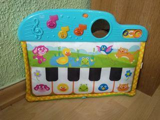 Piano musical de tela, con sonidos y luces