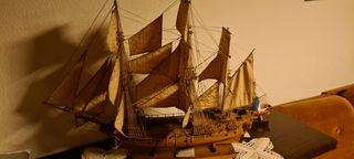 Barco decorativo madera