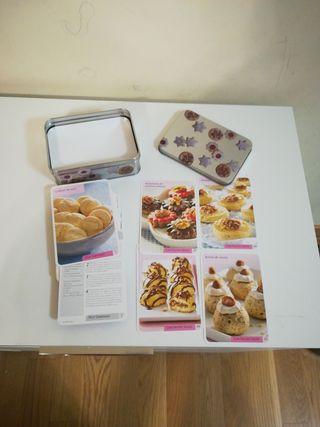 Recetas de galletas en estuche metálico