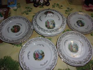 Vajilla porcelana francesa