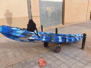 Kayak de pesca para 2 adultos y un niño