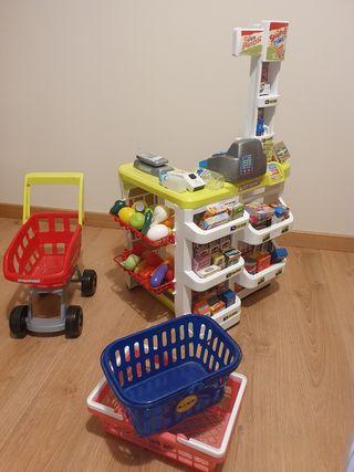 Supermercado de juguete al completo