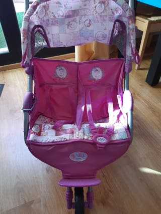 carrito gemelar baby born impecable