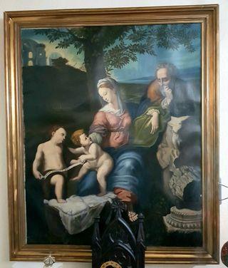 Cuadro Óleo En Lienzo La Sagrada Familia