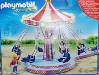playmobil carrusel con luces de colores