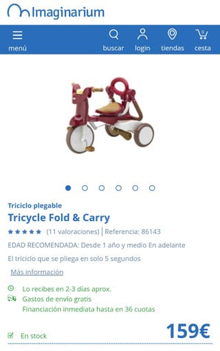 Triciclo Fold & Carry de Imaginarium