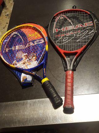 2 raquetas Head.