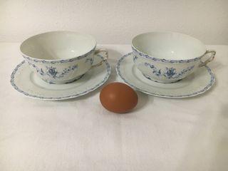 COCINA: Bol y plato de porcelana de Limoges