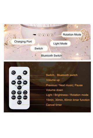 Luz proyector reproductor de música bluetooth