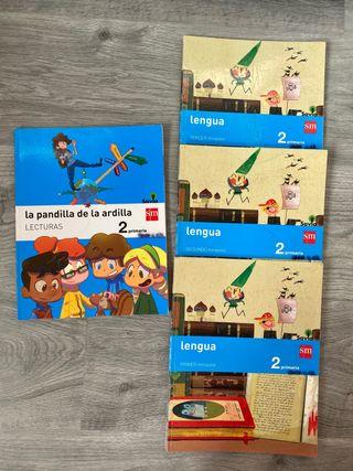 Libros escolares de lengua segundo de primaria