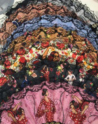 8 Abanicos flamencos