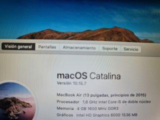ordenador Macbook 13 año 2015