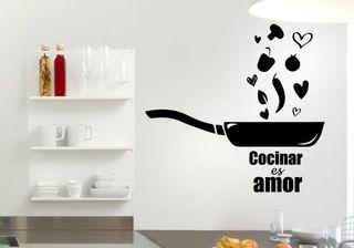 Vinilo Cocinar es Amor