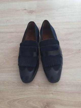 Zapatos Jimmy Choo en ante y piel para hombre