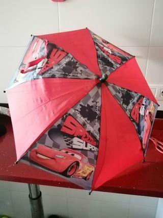 paraguas infantil cars