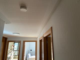 9 Focos LED superficie redondo blanco