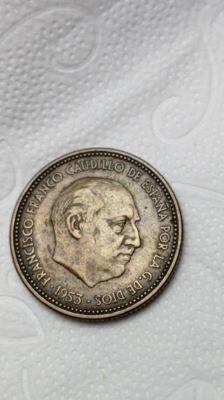 2,5 pesetas de Franco el Caudillo, de 1953