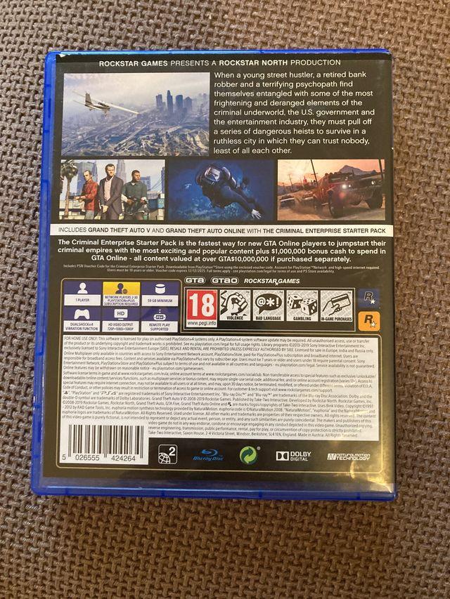 Grand Theft Auto PS 4