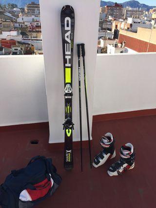 Equipo esquí head esquís y botas