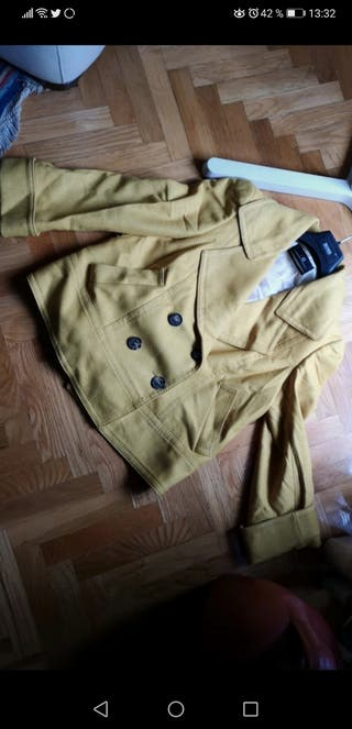 Blazer de lana gabardina corta Carolina Herrera