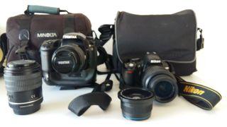 2 cámara de foto Pentax K20D Nikon D3100