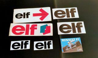 pegatinas elf y Renault originales 80/90