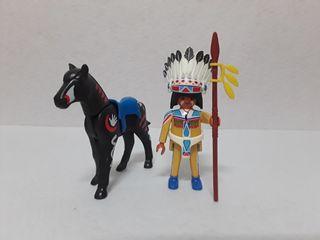 Playmobil Indio con Caballo