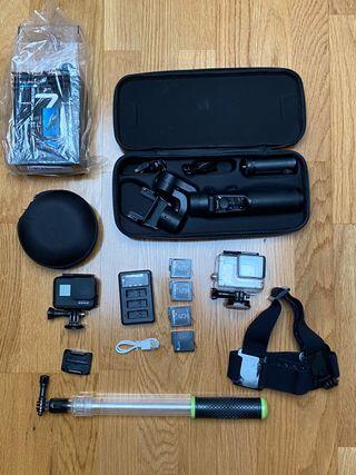 Gopro hero 7 black edition + gimbal y accesorios