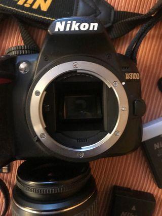 Camara réflex Nikon d3100 objetivo 18/55 dx
