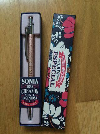 Bolígrafo personalizado. SONIA