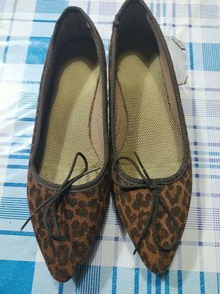 manoletinas de leopardo