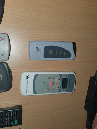 mando de aire acondicionado y de equipos de música