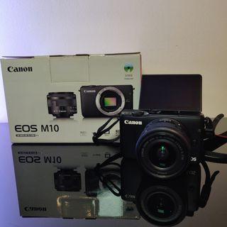 Cámara Canon M10 + Objetivo 15-45mm