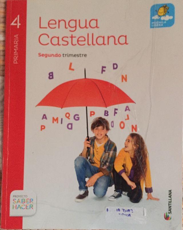 Libro lengua Segundo trimestre 4 de primaria