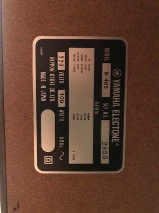 Organo eléctrico Yamaha Electone