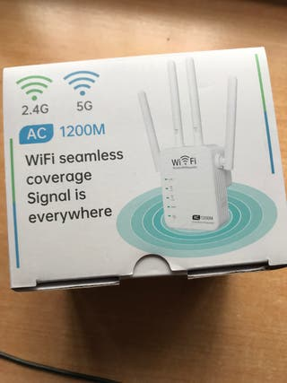 Repetidor wifi doble banda 5ghz ac1200