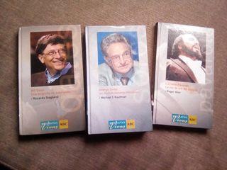 biografías vivas Bill Gates,Luciano Pavarotti,geor