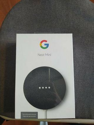 Asistente de Google Nest Mini a estrenar
